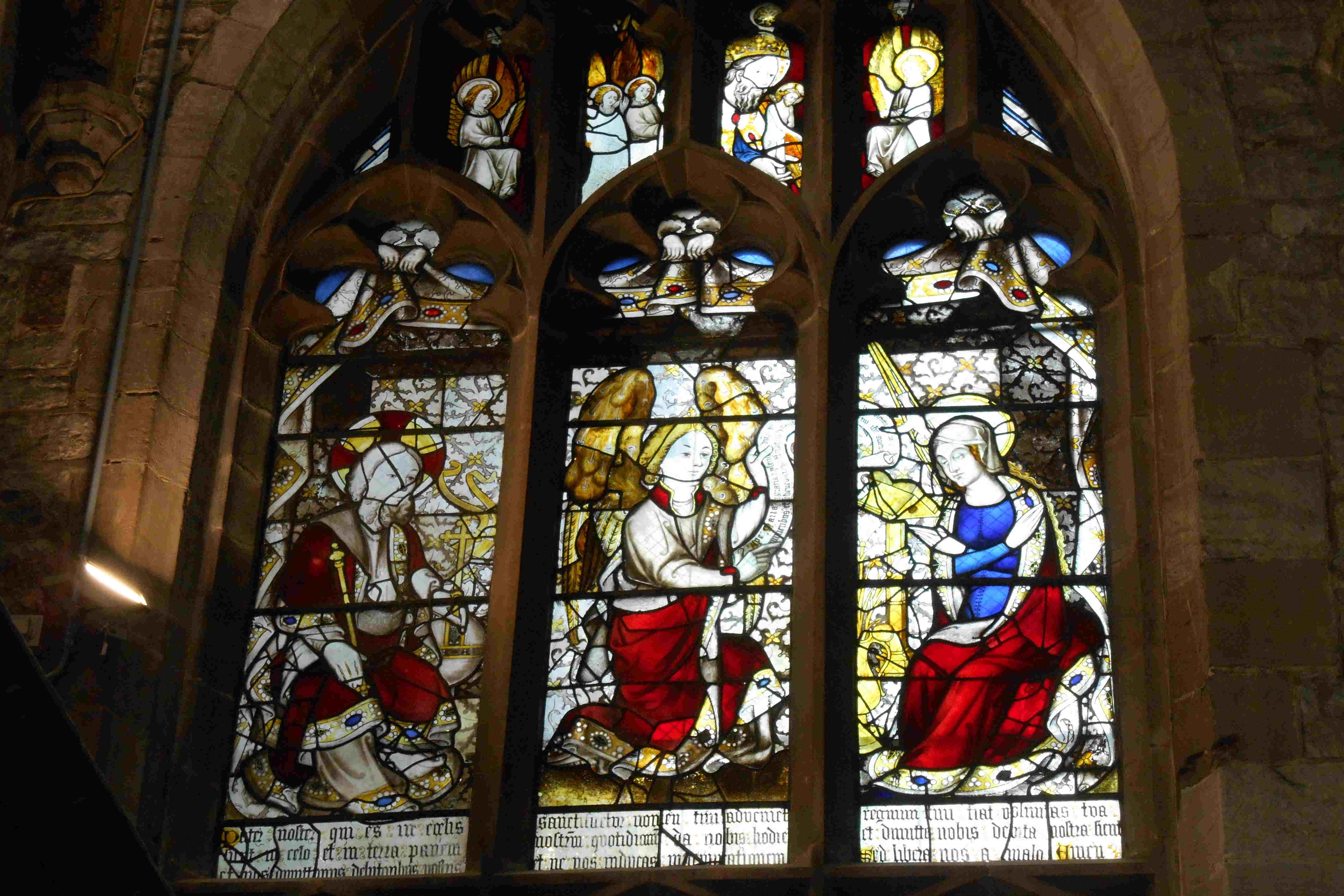 The Annunciation window in St Laurence, Ludlow