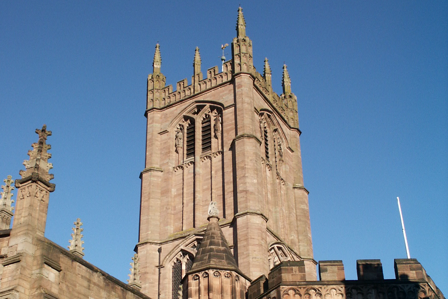 The 15th century tower of St Laurence Ludlow